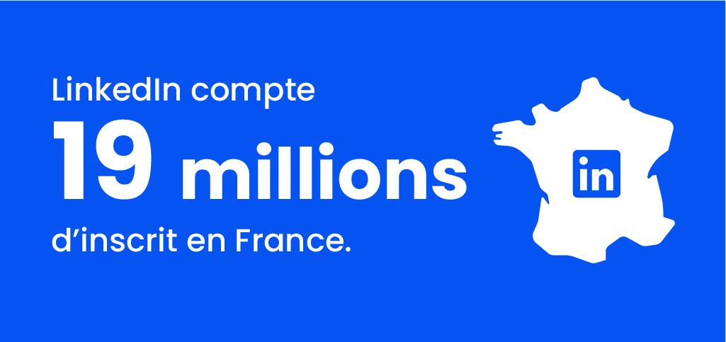 chiffres sur le nombre d'inscrit en France sur Linkedin
